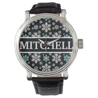 Personalized Black Blizzard Wristwatch