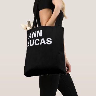 Personalized Black & Bold Tote Bag