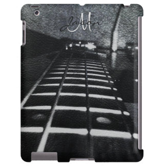 Personalized Black Electric Bass Guitar iPad Case