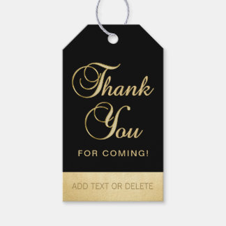 Personalized Black Gold THANK YOU FOR COMING favor
