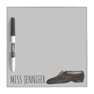 Personalized Black Jazz Shoe Dance Teacher Gift Dry-Erase Board