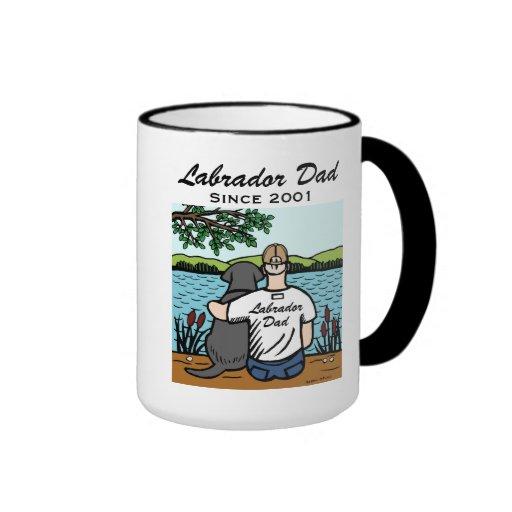 Personalized Black Labrador and Dad Coffee Mug