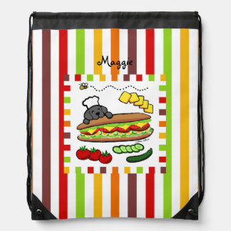 Personalized Black Labrador Bakery Rucksacks