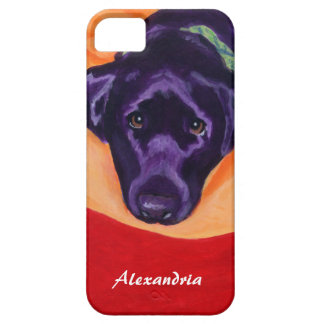 Personalized Black Labrador Painting iPhone 5 Covers