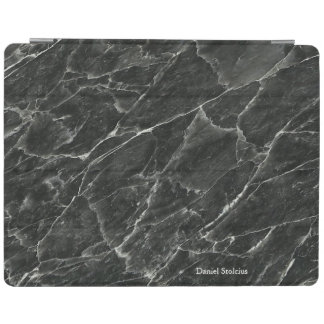 Personalized Black Marble iPad Cover