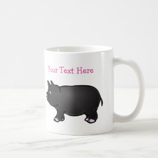 Personalized Black Mini Pig 11 oz White Mug