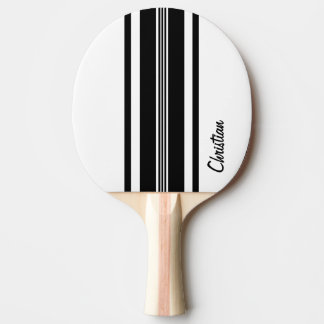 Personalized Black Modern Racing Stripes