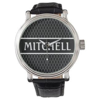 Personalized Black SM Dragon Scale Wrist Watches