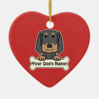 Personalized Black & Tan Coonhound Christmas Ornament