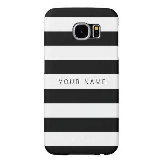 Personalized Black & White Striped