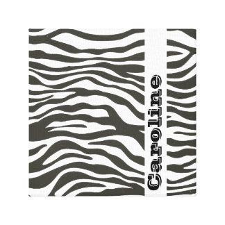 Personalized Black White Zebra Print Pattern