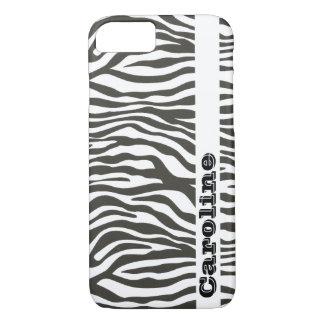 Personalized Black White Zebra Print Pattern iPhone 8/7 Case