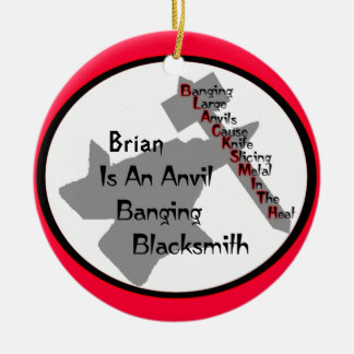 Personalized Blacksmith Christmas Ornament