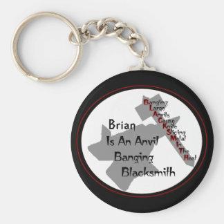 Personalized Blacksmith Key Ring