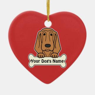 Personalized Bloodhound Ceramic Heart Decoration