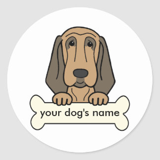 Personalized Bloodhound Classic Round Sticker