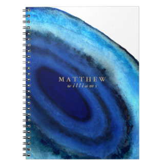 Personalized | Blue Agate Note Books