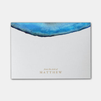 Personalized | Blue Agate Post-it Notes