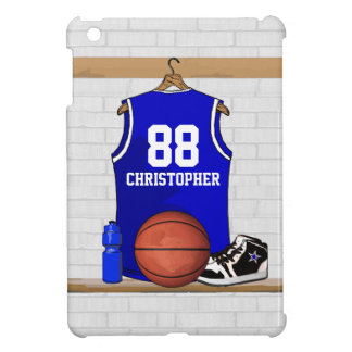 Personalized Blue and White Basketball Jersey iPad Mini Case