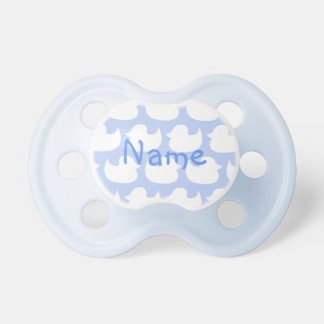 Personalized Blue and White Duck Pattern Dummy