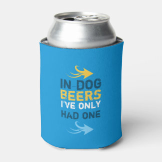 Personalized Blue and yellow beer quote Can Cooler