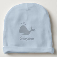 Personalized Whale Baby Beanie