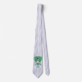 Personalized Blue baseball star Tie
