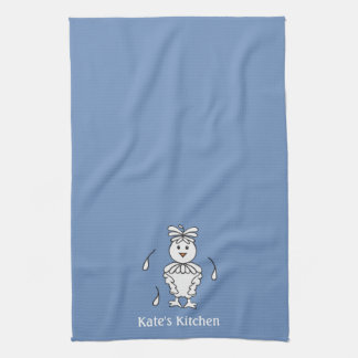 Personalized blue/ Chicken Kitchen Towels