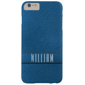 Personalized Blue Faux Leather Phone Case