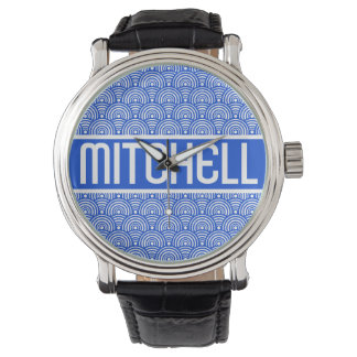 Personalized Blue Fish Scale KB Watch