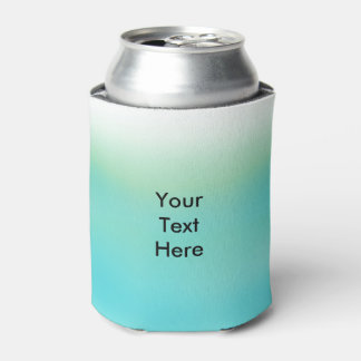 Personalized Blue Green Ombre Fade Can Cooler