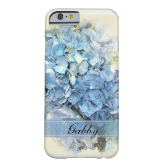 Personalized Blue Hydrangea iPhone 6 Barely There iPhone 6 Case