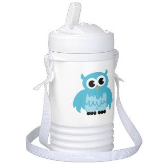 Personalized blue owl beverage cooler for kids