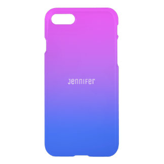 Personalized Blue & Pink Ombre iPhone Case