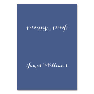 Personalized Blue Place Setting Cards Table Cards
