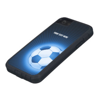 Personalized Blue Soccer iPhone 5 Case
