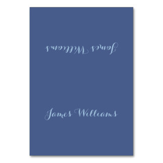 Personalized Blue Table Cards Place Setting Cards