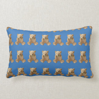Personalized Blue Teddy Bear Pillow