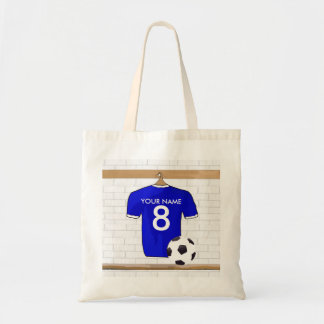 Personalized Blue White Football Soccer Jersey