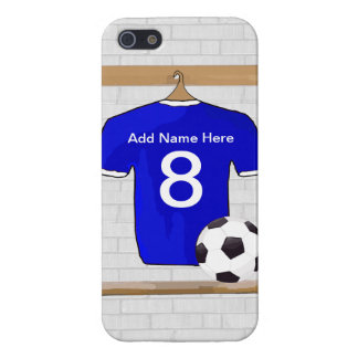 Personalized Blue White Football Soccer Jersey Case For iPhone 5/5S