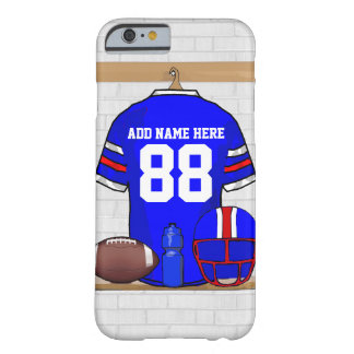 Personalized Blue White Red Football Jersey Barely There iPhone 6 Case