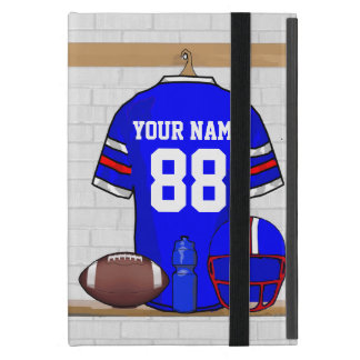 Personalized Blue White Red Football Jersey iPad Mini Cover