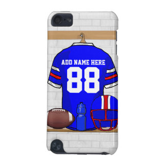 Personalized Blue White Red Football Jersey iPod Touch 5G Covers