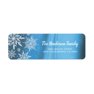 Personalized Blue Winter Christmas Snowflake