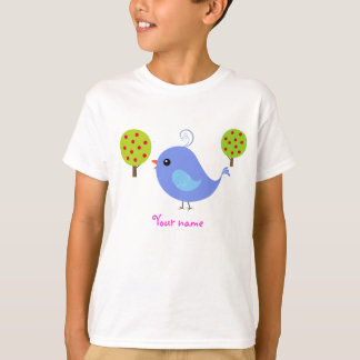 Personalized Bluebird Kid's T Shirts