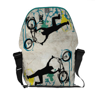 Personalized BMX Stunt Bike Grunge Messenger Bag