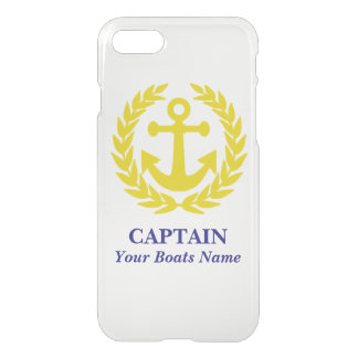 Personalized boat and captain iPhone 8/7 case