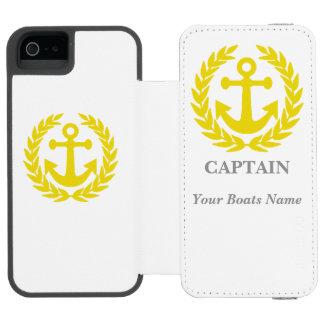 Personalized boat captain incipio watson™ iPhone 5 wallet case