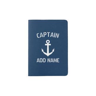 Personalized boat captain nautical passport holder