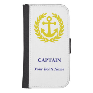 Personalized boat captains galaxy s4 wallets